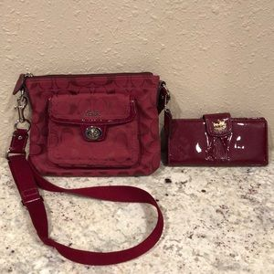 Coach small crossbody and wallet